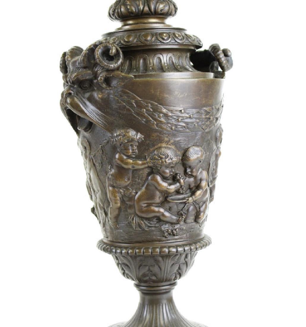 PAIR Ornate Cast & Gilt Bronze Figural Candelabras - 2