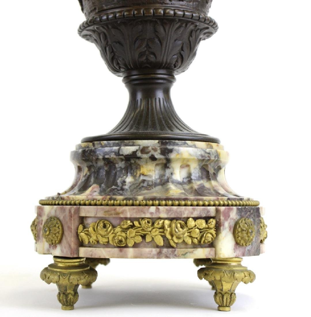 PAIR Ornate Cast & Gilt Bronze Figural Candelabras - 3