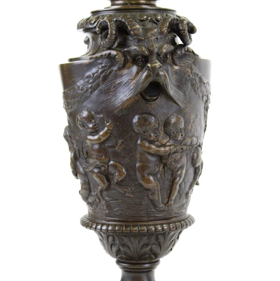 PAIR Ornate Cast & Gilt Bronze Figural Candelabras - 4