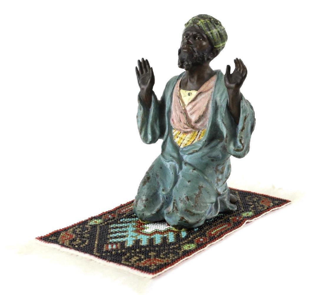 Franz Bergman Cold Painted Bronze Prayer Man