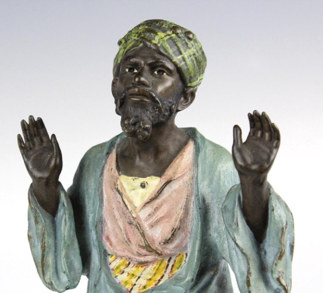 Franz Bergman Cold Painted Bronze Prayer Man - 3