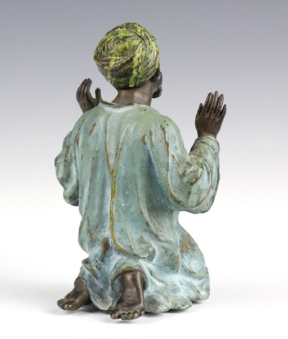 Franz Bergman Cold Painted Bronze Prayer Man - 6