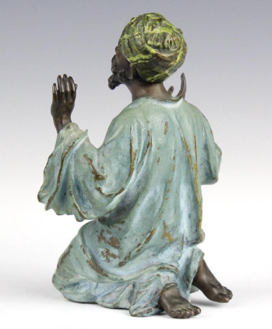 Franz Bergman Cold Painted Bronze Prayer Man - 7