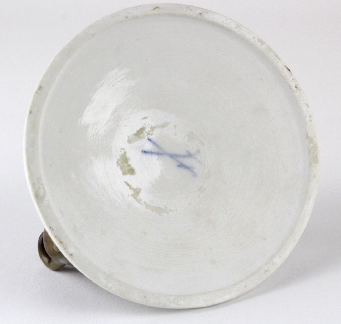 Antique Meissen Pug Dog Porcelain Figural Group - 8