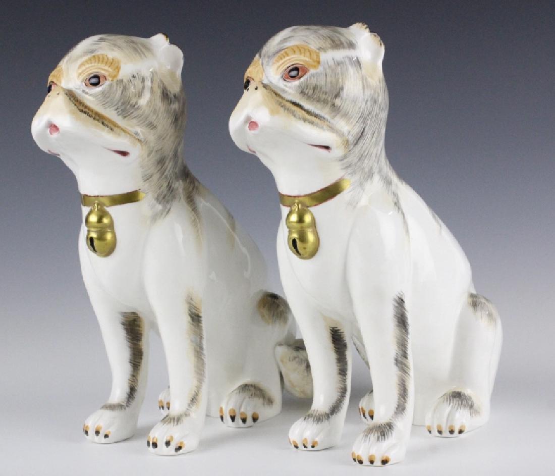 PAIR Sutherland Pug Dog English Porcelain Figurine
