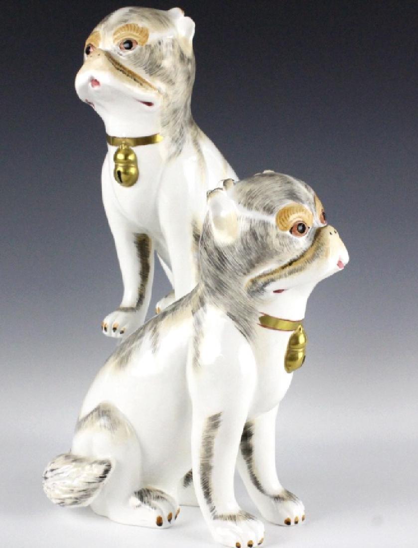 PAIR Sutherland Pug Dog English Porcelain Figurine - 2