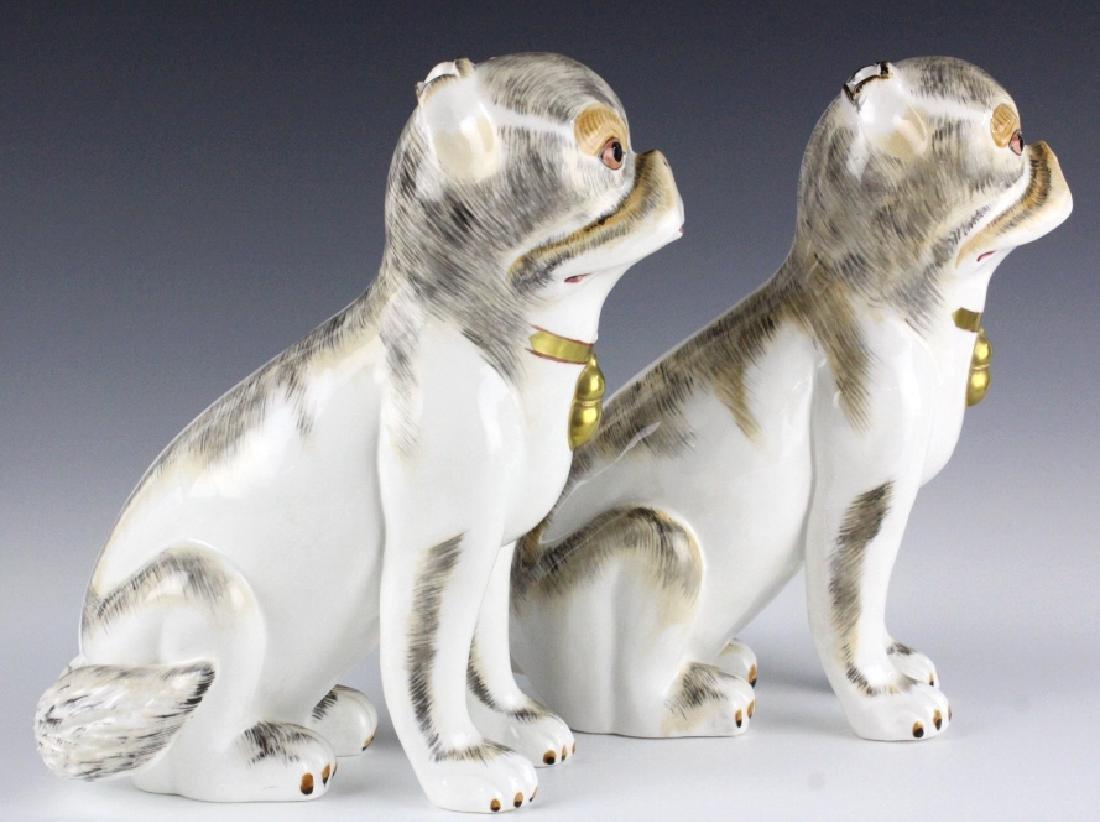 PAIR Sutherland Pug Dog English Porcelain Figurine - 5
