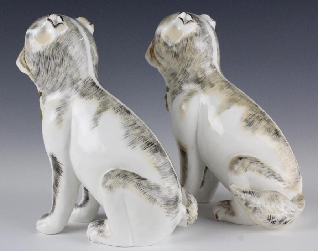 PAIR Sutherland Pug Dog English Porcelain Figurine - 6