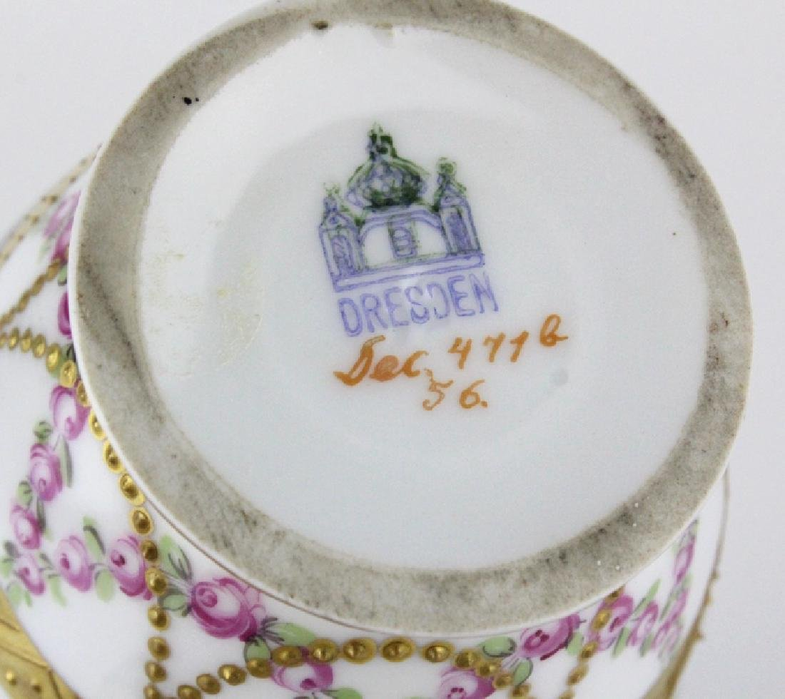 Antique Dresden Napoleon Portrait Porcelain Vase - 10