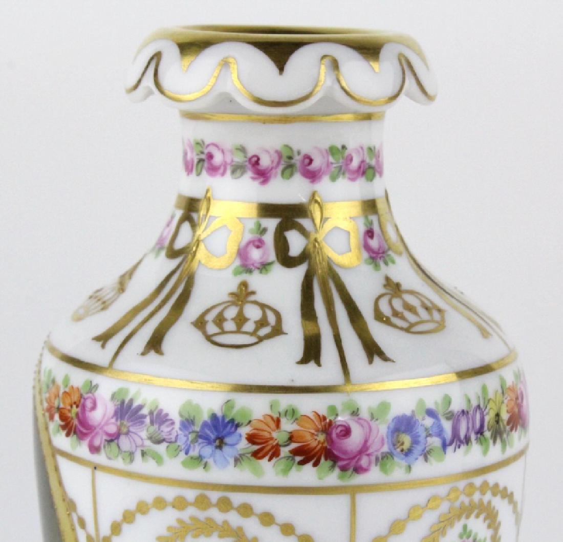 Antique Dresden Napoleon Portrait Porcelain Vase - 4