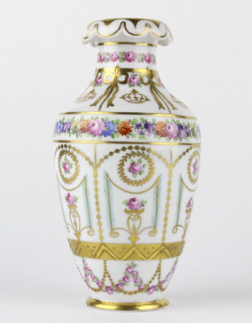 Antique Dresden Napoleon Portrait Porcelain Vase - 5