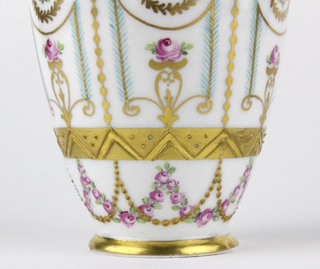 Antique Dresden Napoleon Portrait Porcelain Vase - 6