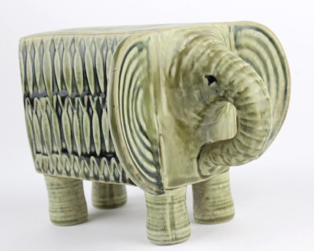 Lisa Larson Gustavsberg Art Pottery Zoo Elephant - 2