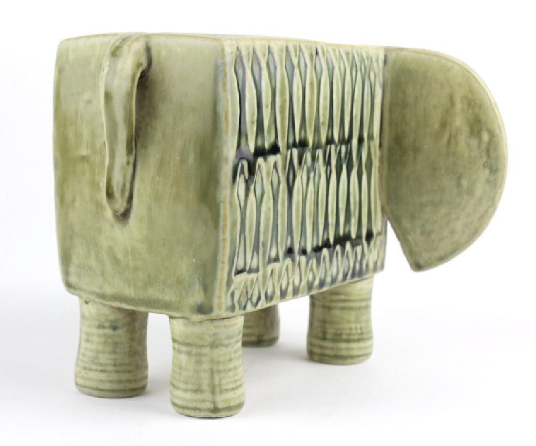 Lisa Larson Gustavsberg Art Pottery Zoo Elephant - 4
