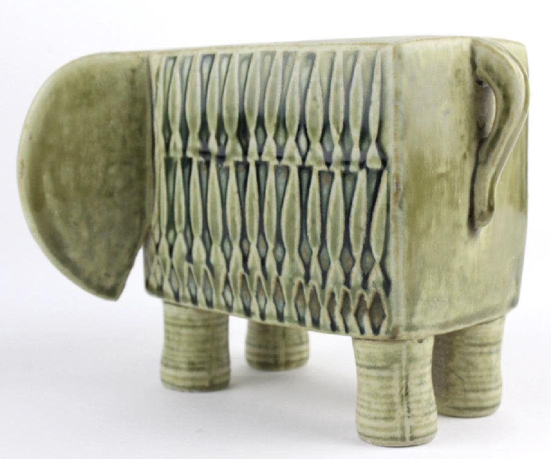Lisa Larson Gustavsberg Art Pottery Zoo Elephant - 5