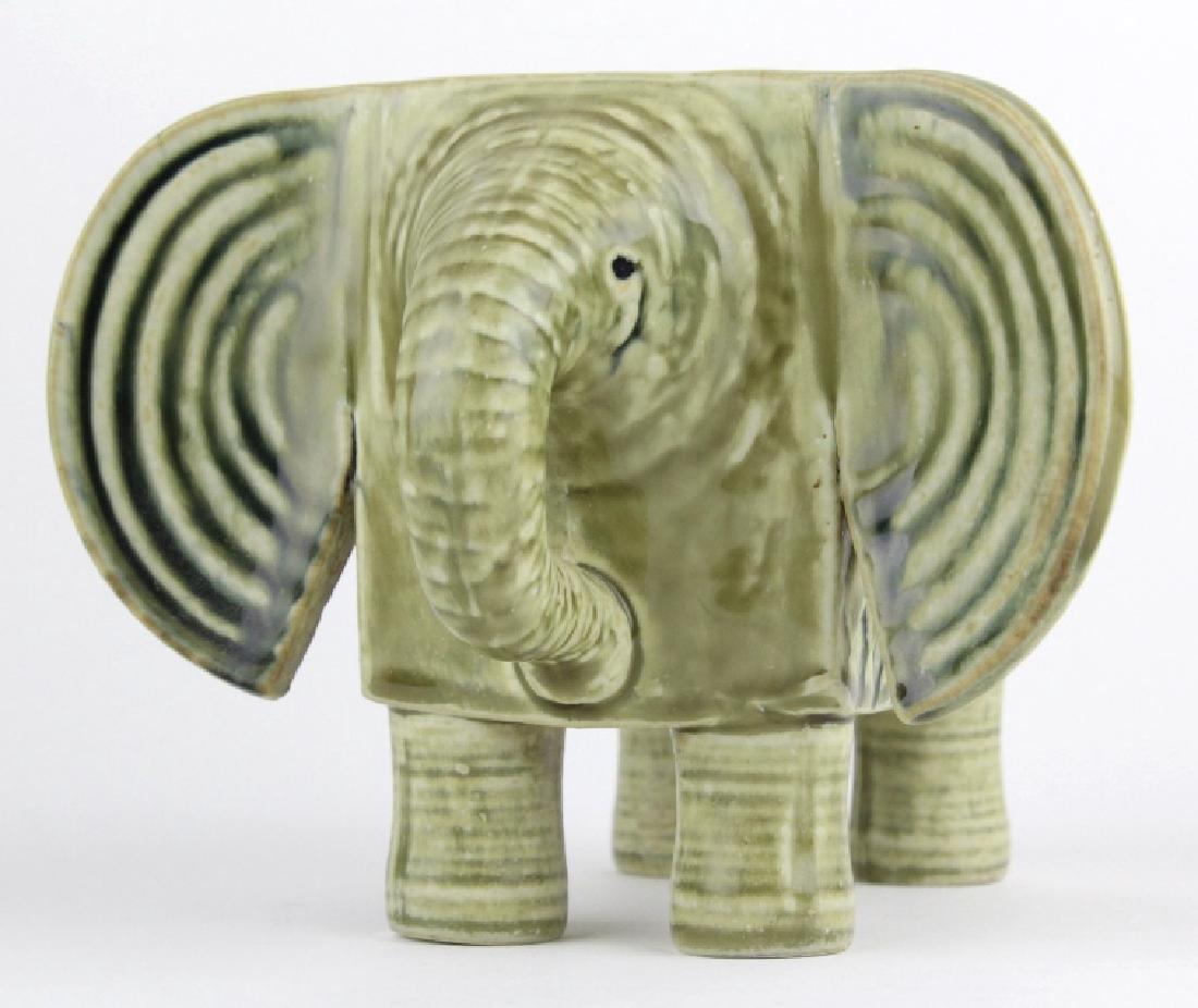 Lisa Larson Gustavsberg Art Pottery Zoo Elephant - 7
