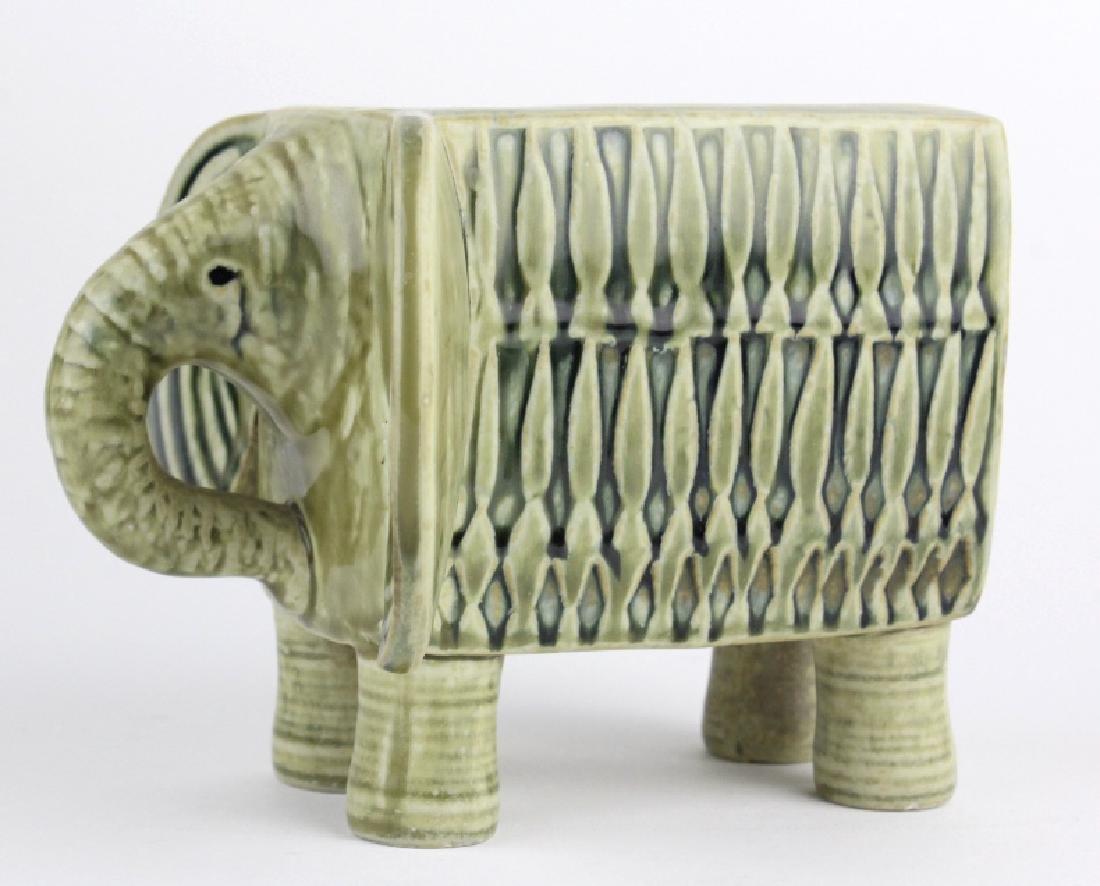 Lisa Larson Gustavsberg Art Pottery Zoo Elephant - 8