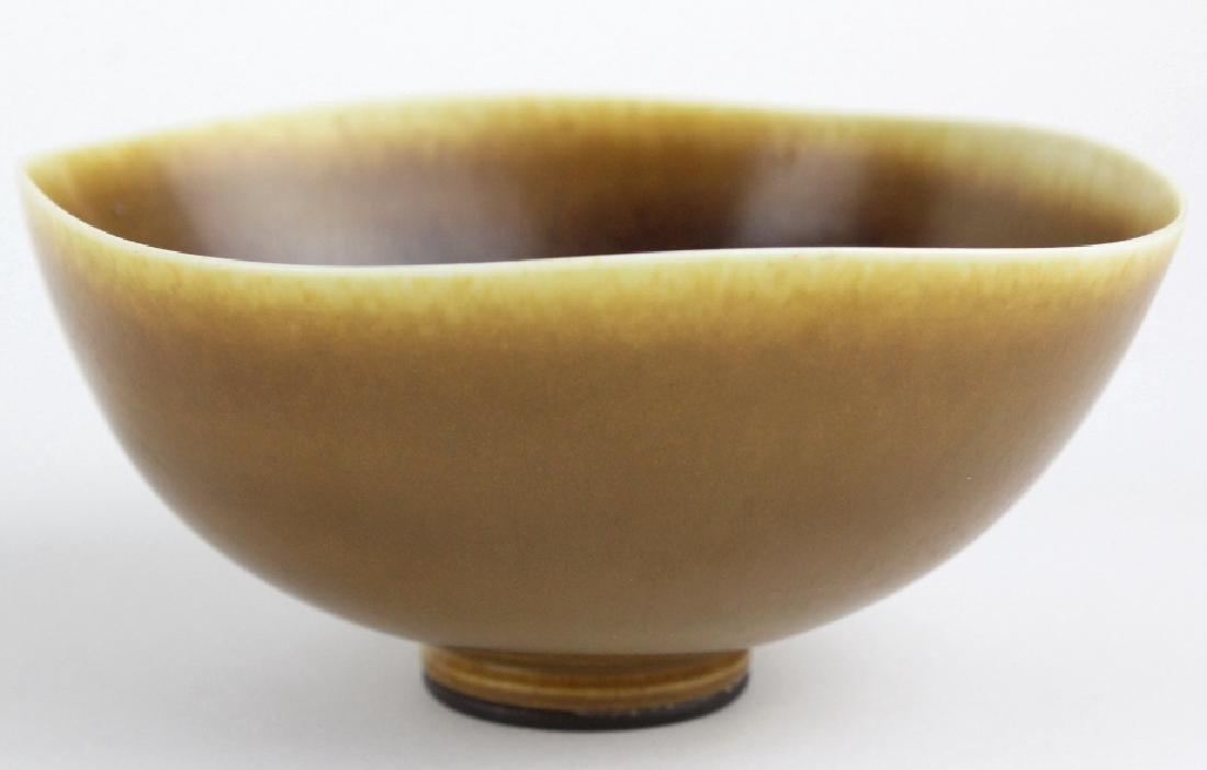 Berndt Friberg Gustavsberg Studio Art Pottery Bowl