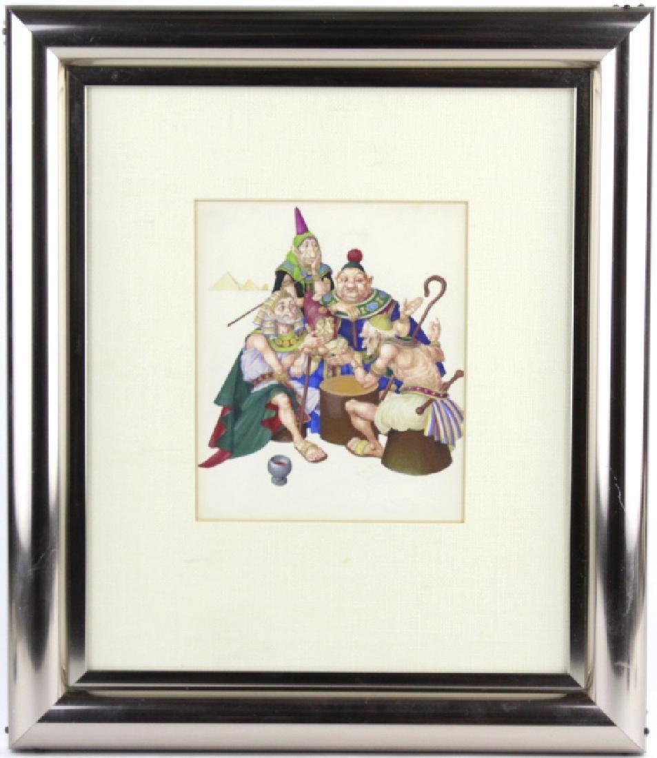 ARTHUR SZYK Moses Pharaoh Gouache Painting 1945 - 2