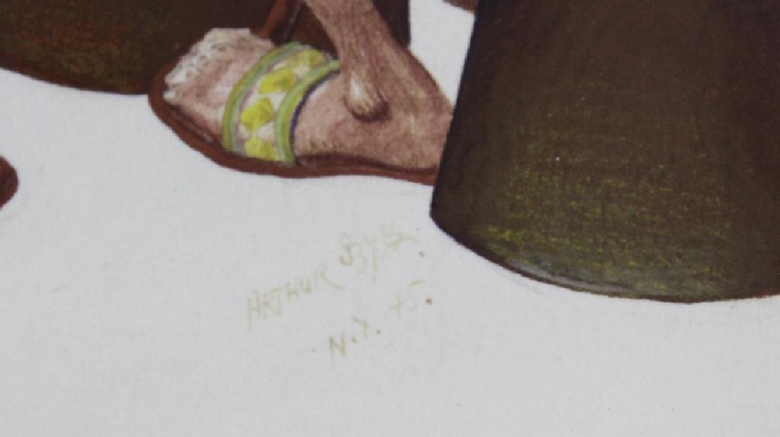 ARTHUR SZYK Moses Pharaoh Gouache Painting 1945 - 3