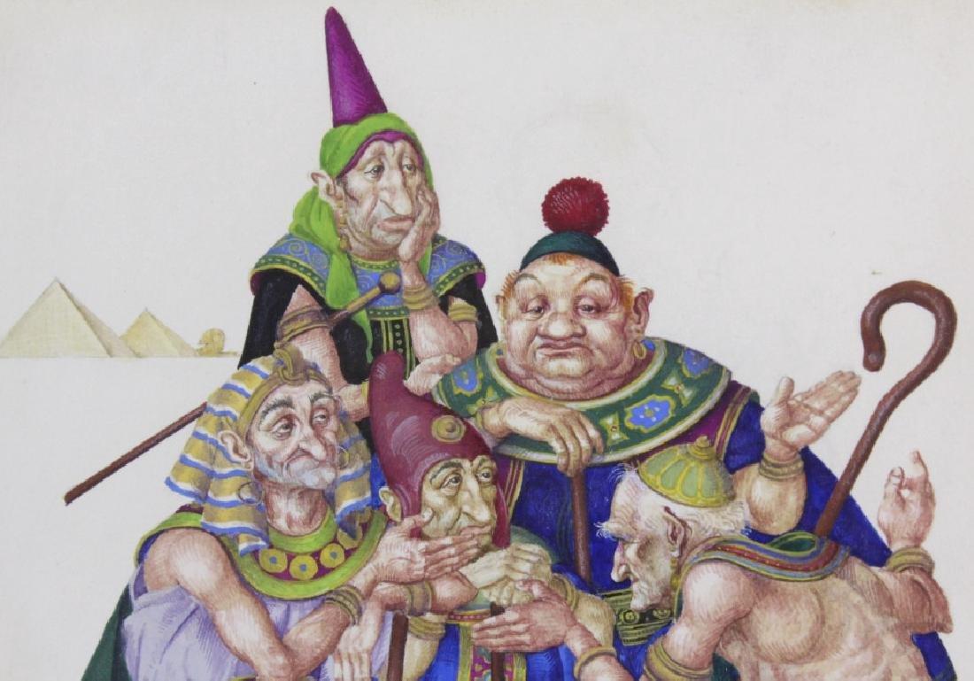 ARTHUR SZYK Moses Pharaoh Gouache Painting 1945 - 4