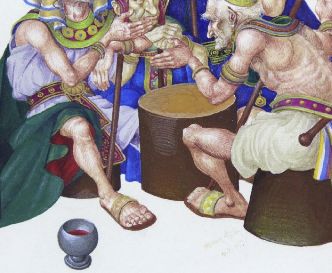 ARTHUR SZYK Moses Pharaoh Gouache Painting 1945 - 5