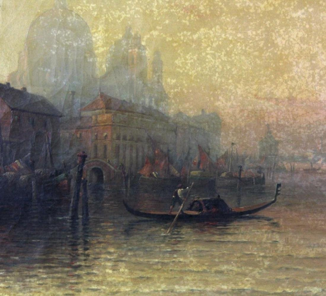 Albert E Downs Canal Guidecca Venice Oil Painting - 2