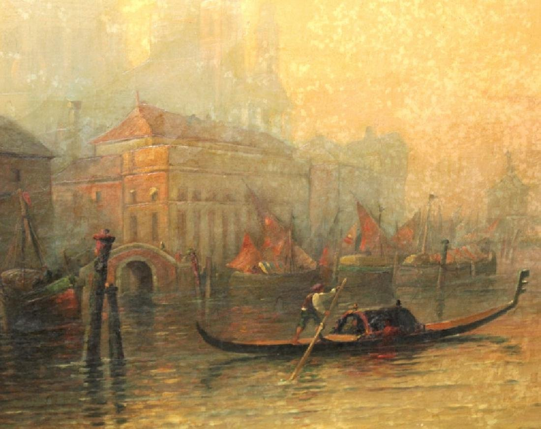 Albert E Downs Canal Guidecca Venice Oil Painting - 4