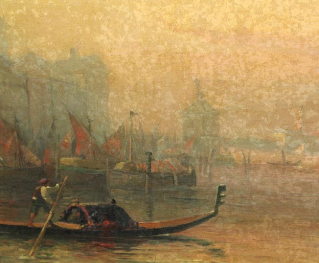 Albert E Downs Canal Guidecca Venice Oil Painting - 5