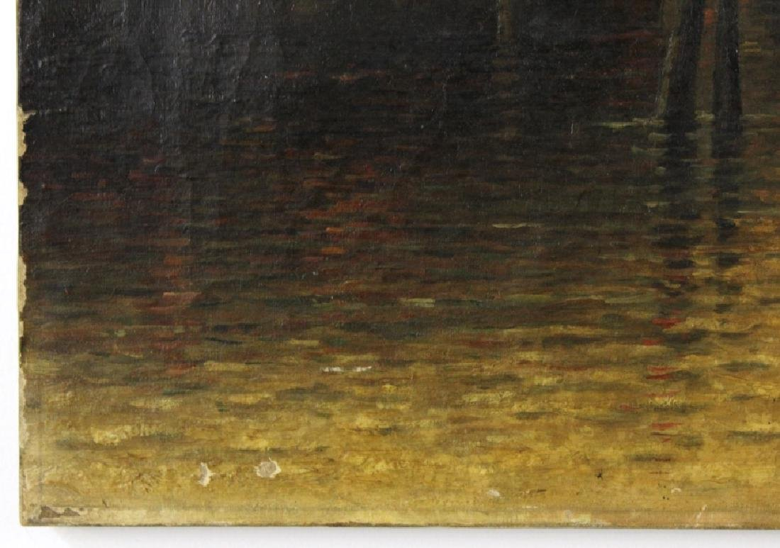 Albert E Downs Canal Guidecca Venice Oil Painting - 6