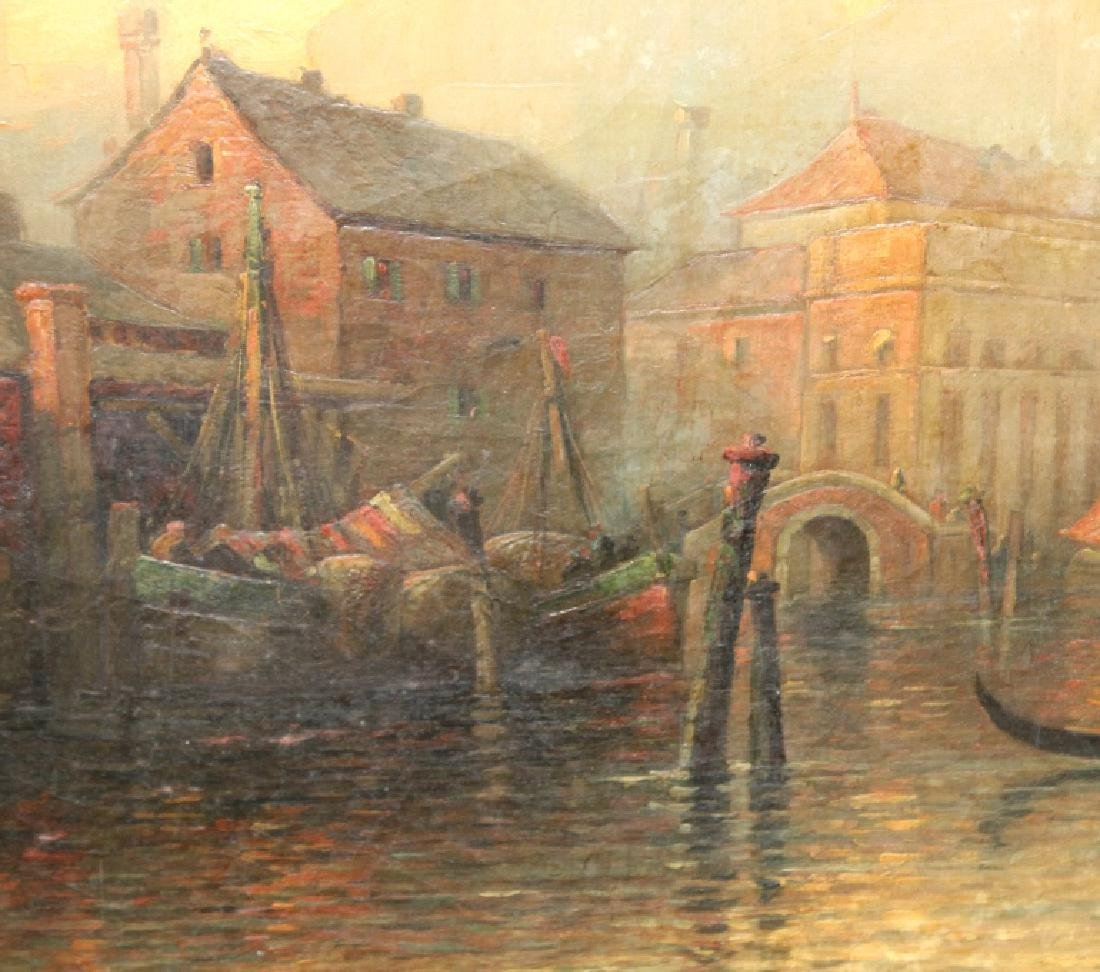 Albert E Downs Canal Guidecca Venice Oil Painting - 7