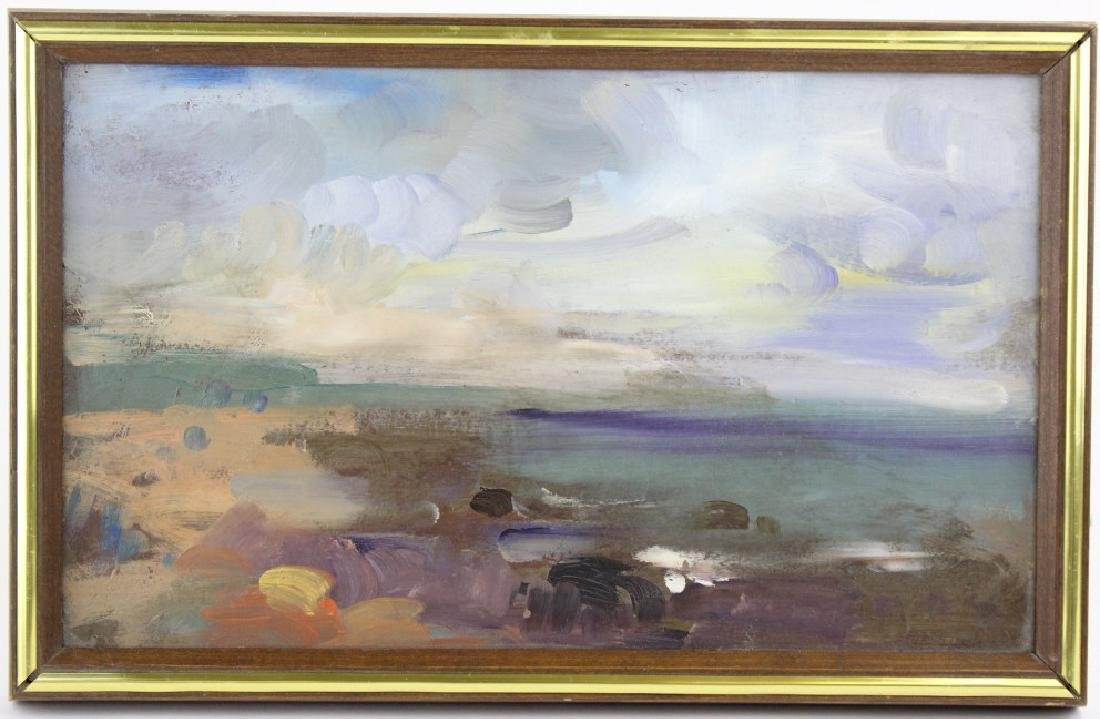 Rosemarie Beck American Seascape Oil Painting 8x14 - 2
