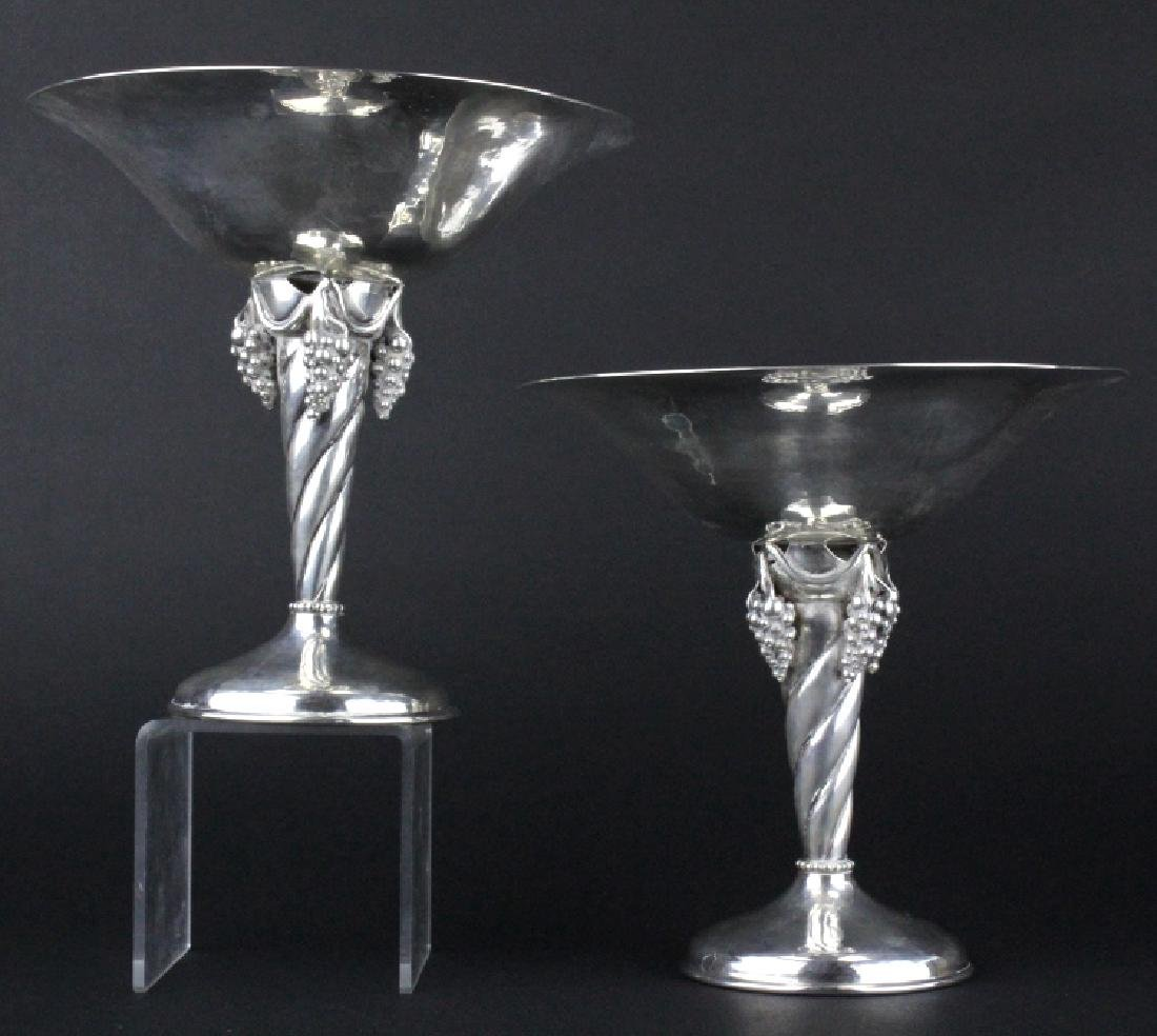 PAIR Signed DeMatteo Sterling Silver Compotes 781g