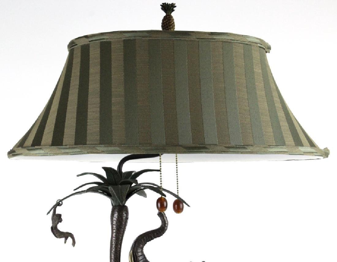 Frederick Cooper Bronze Elephant Monkey Desk Lamp - 2