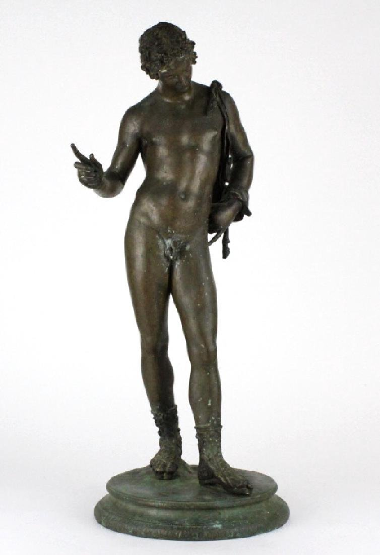Vincenzo Gemito NARCISSE Nude Bronze Sculpture 24""