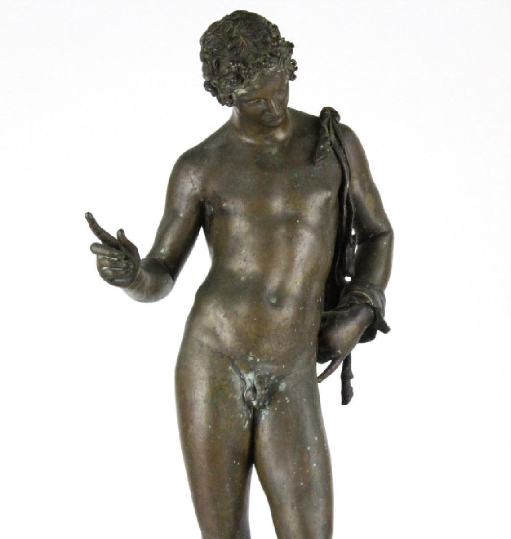 "Vincenzo Gemito NARCISSE Nude Bronze Sculpture 24"" - 2"