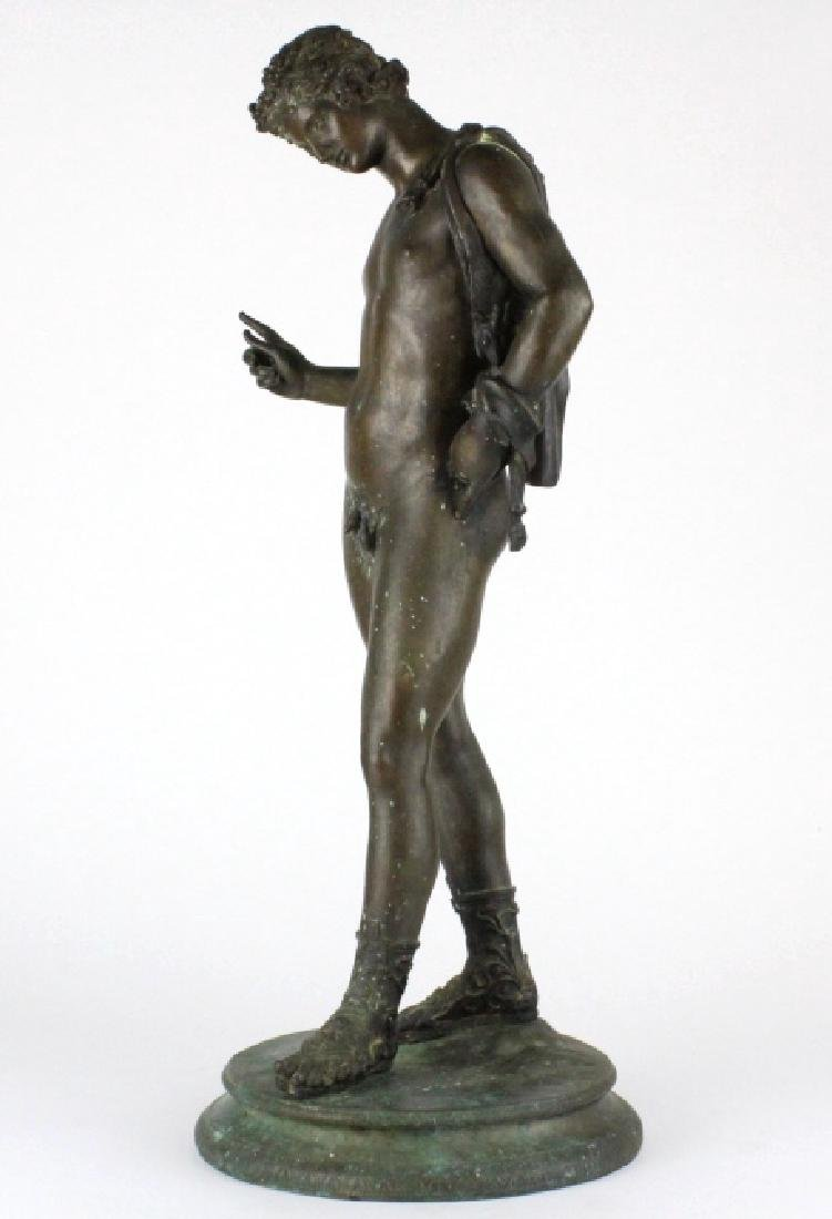 "Vincenzo Gemito NARCISSE Nude Bronze Sculpture 24"" - 4"