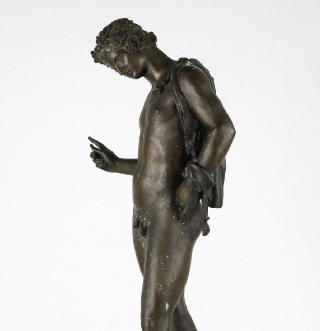 "Vincenzo Gemito NARCISSE Nude Bronze Sculpture 24"" - 5"