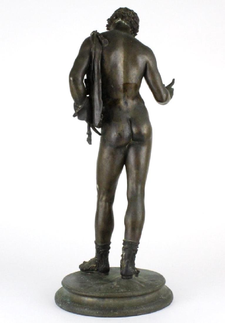 "Vincenzo Gemito NARCISSE Nude Bronze Sculpture 24"" - 6"