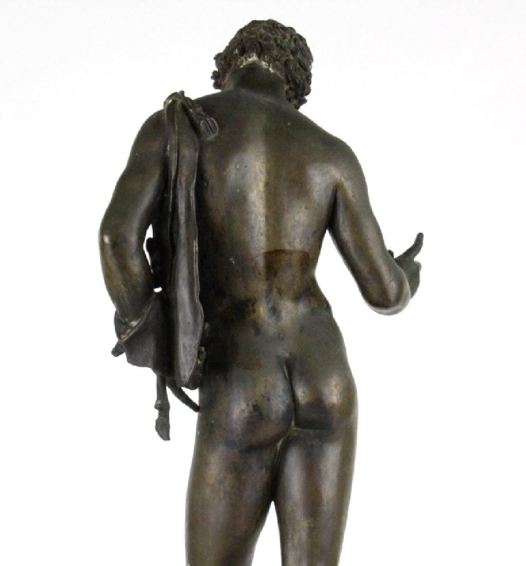 "Vincenzo Gemito NARCISSE Nude Bronze Sculpture 24"" - 7"