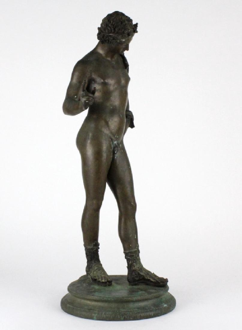 "Vincenzo Gemito NARCISSE Nude Bronze Sculpture 24"" - 8"