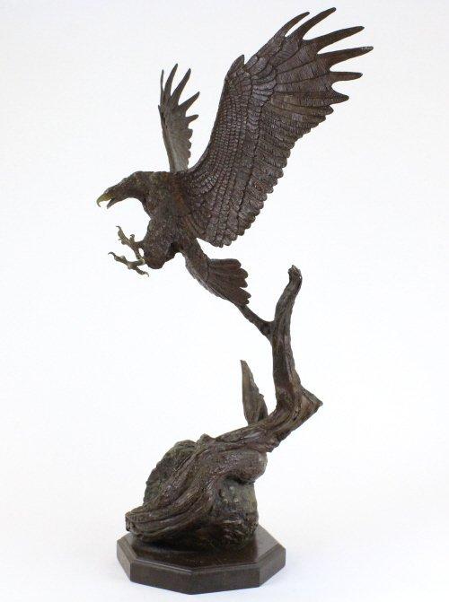 Wally Shoop American Bald Eagle Bronze Sculpture