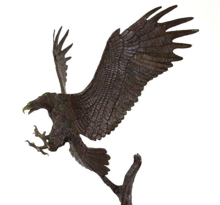 Wally Shoop American Bald Eagle Bronze Sculpture - 2