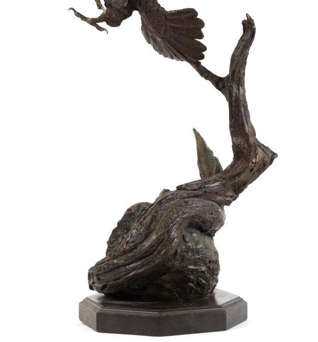 Wally Shoop American Bald Eagle Bronze Sculpture - 3
