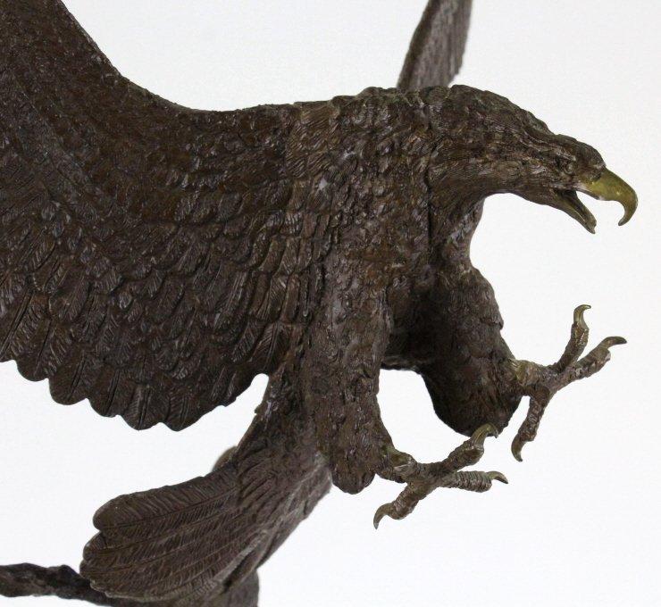 Wally Shoop American Bald Eagle Bronze Sculpture - 6