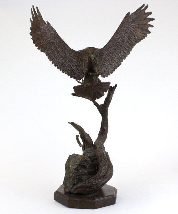 Wally Shoop American Bald Eagle Bronze Sculpture - 7
