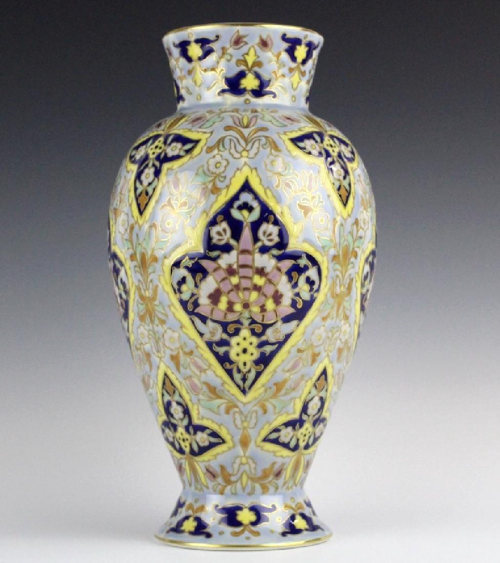 Zsolnay Floral Polychrome Vase by Miss M Szalontay