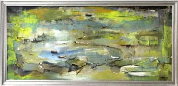 Gigi Gallant Abstract Modern Canvas Oil Painting