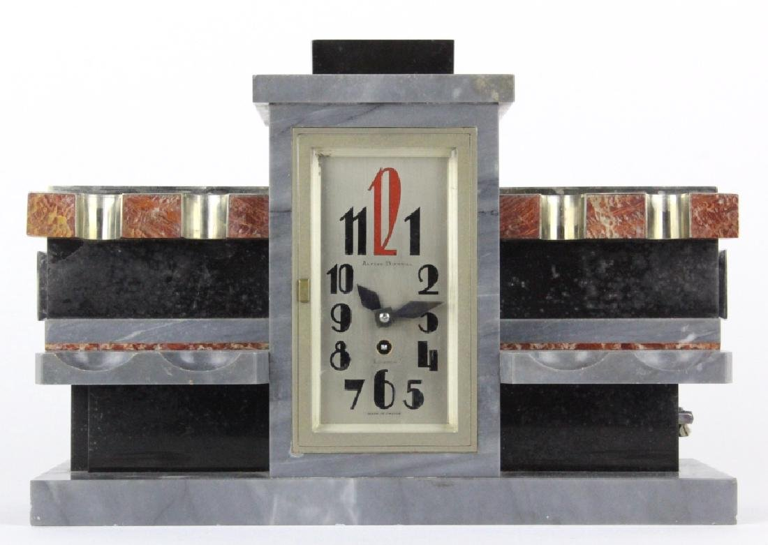 Alfred Dunhill Art Deco Marble CLOCK Pipe Stand