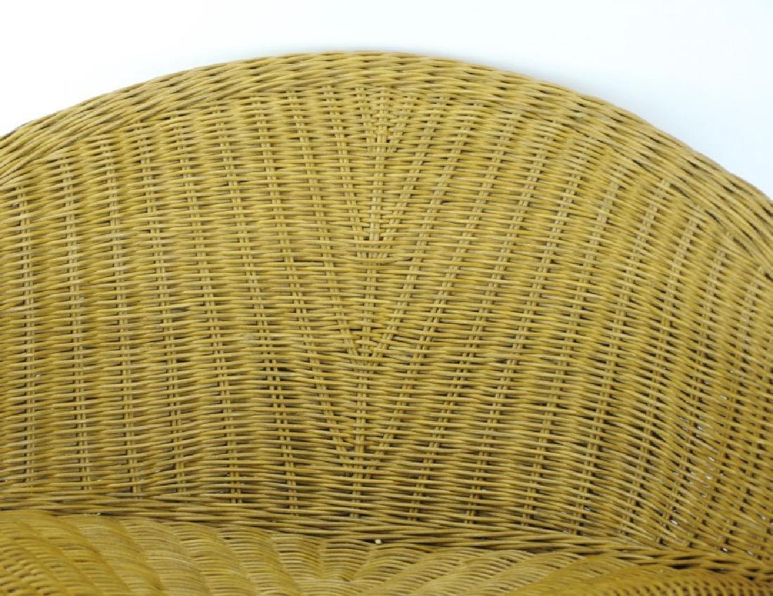 Vintage Mid Century Modern Woven Wicker Chair - 2
